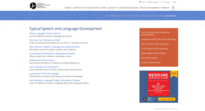 Speech and Language Information